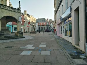 Image of the Market Place showing the current slabbed surface Image courtesy of SMTC